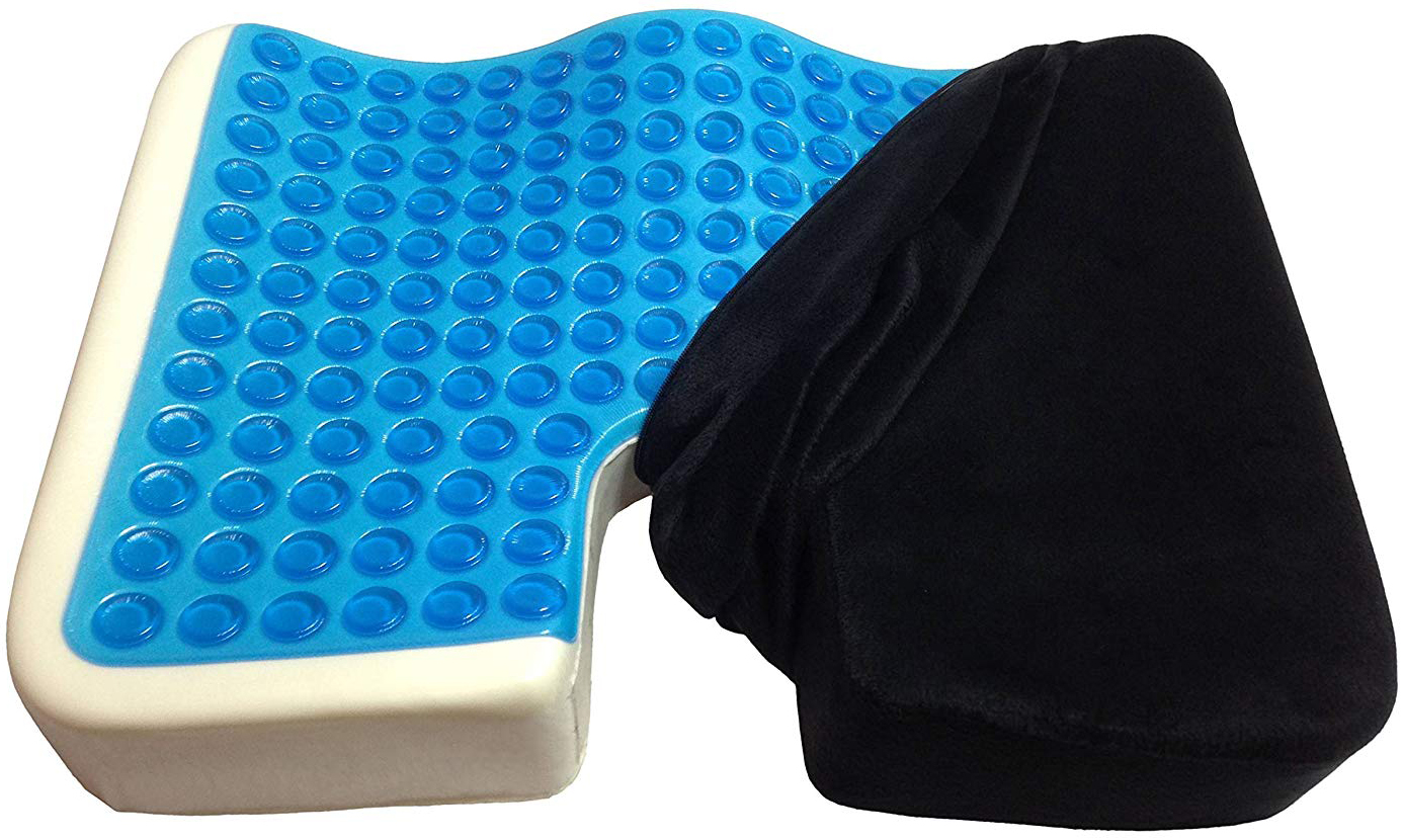 Kieba Coccyx Seat Cushion, Cool Gel Memory Foam