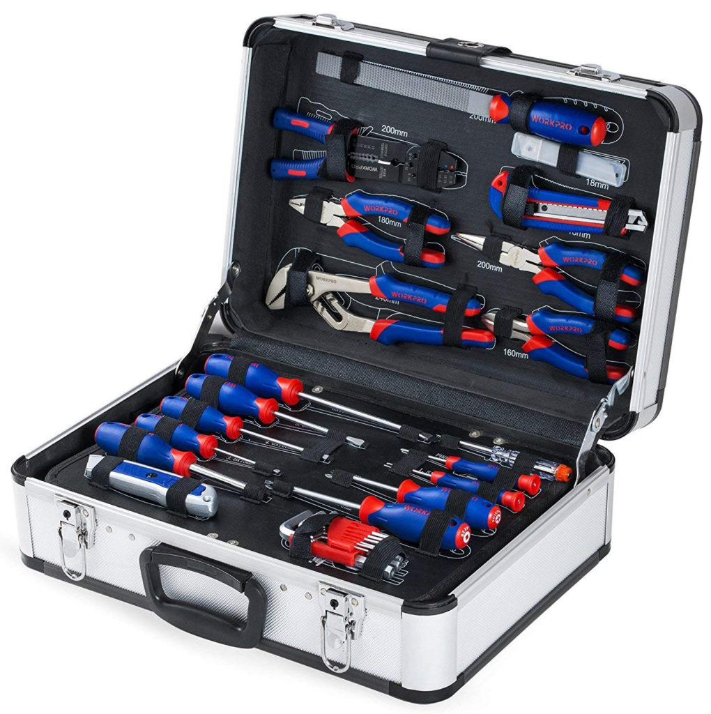 WORKPRO W009019A 119-Piece Tool Kit in Aluminum Case