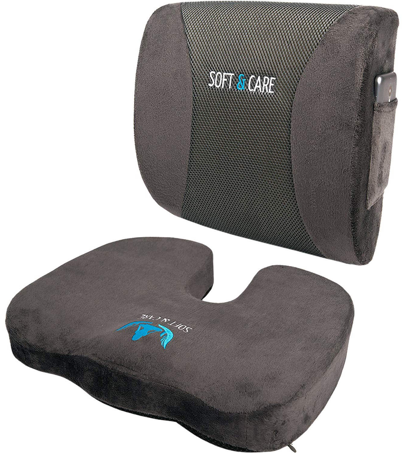 SOFTaCARE Coccyx Orthopedic Seat Cushion with Memory Foam