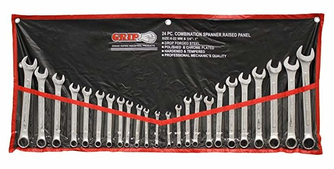 GRIP 89358 MM/SAE Combination Wrench Set