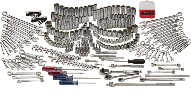 Klutch Mechanic's Tool Set - 305-Pc., 1/4in.-, 3/8in.-and 1/2in.-Drive, SAE and Metric