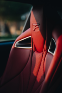 read leather seat