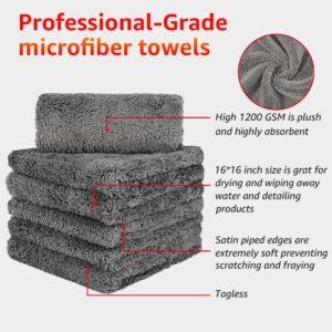 Healsell Microfiber Towels for Cars- Car Drying Towel