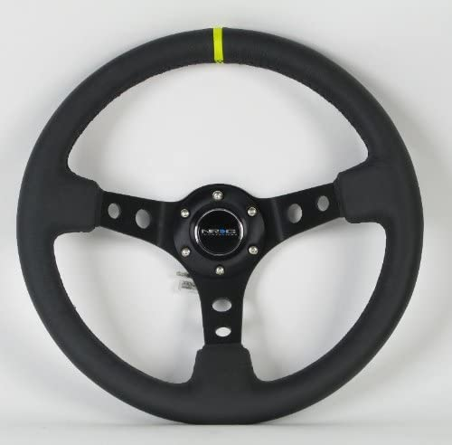 NRG ST-006BK-Y Steering Wheel
