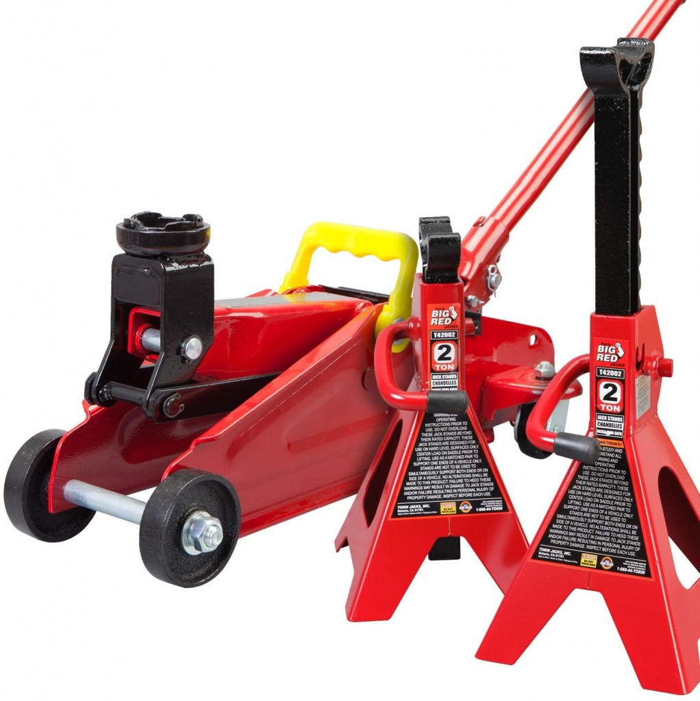 Torin Big Red floor jack combo with stands