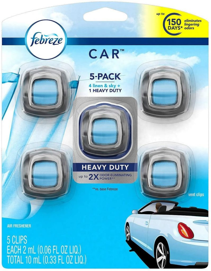 Febreze car air freshener- linen and sky