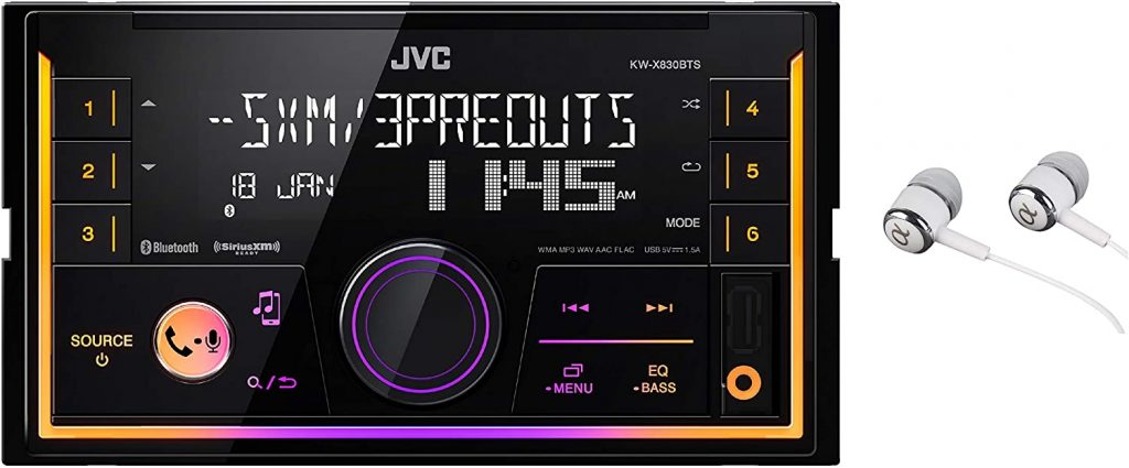 JVC KW-SX83BTS 2-Din Apple and Android Compatibility Digital Media Receiver