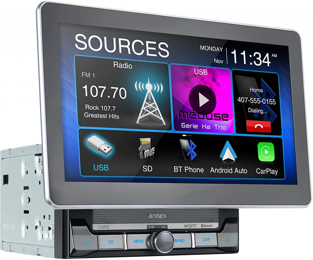 Jensen CAR10 10-inch capacitive LCD car stereo