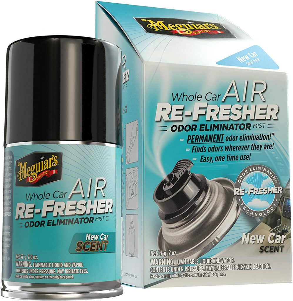Meguiar's whole car odor eliminator air freshener