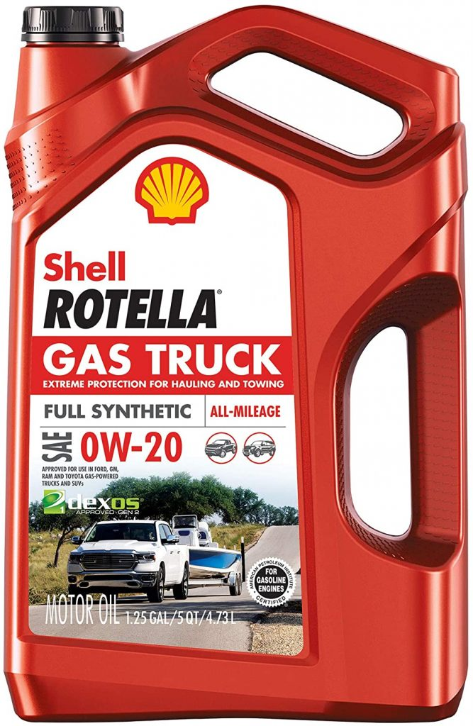 Shell Rotella Gas Truck Full Synthetic 0W-20 Motor Oil