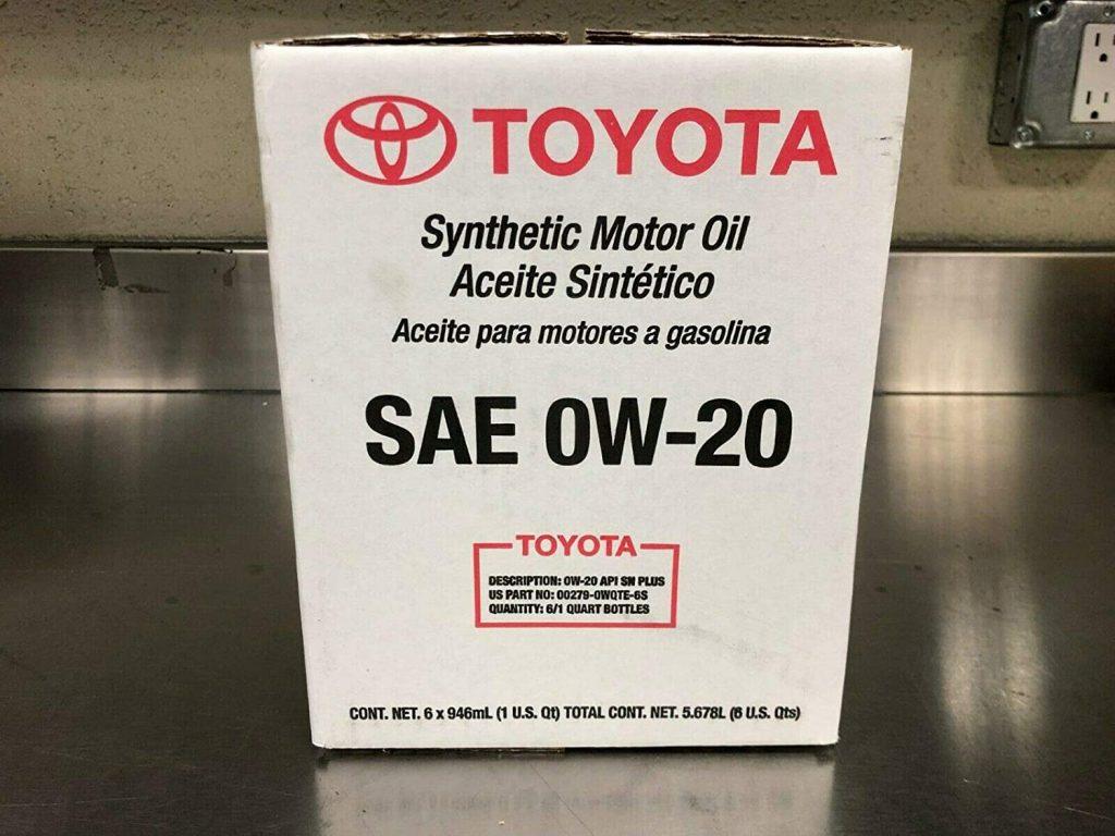 Toyota/Exxon Mobil Full Synthetic TGMO SN 0W-20 Oil