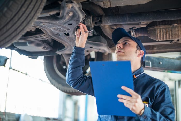 What does a full car inspection include?