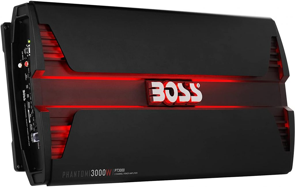 BOSS Audio Systems PT3000 2 Channel Car Amplifier