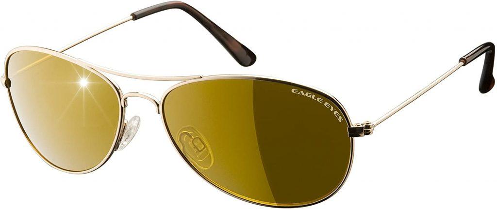 Eagle Eyes Classic Aviator Polarized Sunglasses