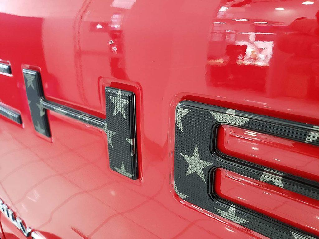Tailgate Insert Letters - Black USA Flag